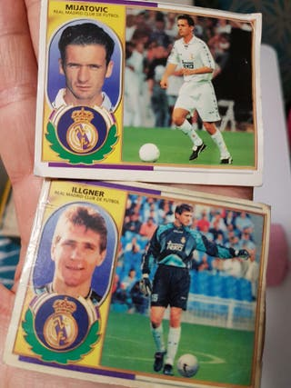 cromos real Madrid liga 96 97