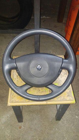 Volante cuero+airbag renault