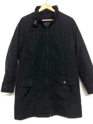Abrigo negro mujer talla L-XL