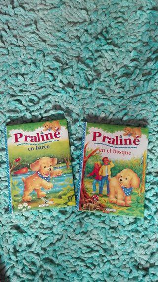 dos libros de praliné, primeras lecturas