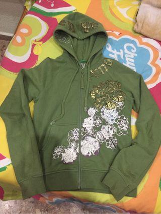 Chaqueta verde benneton