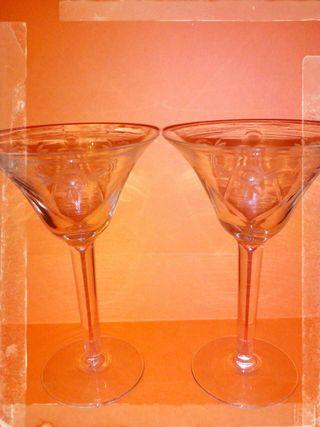 6 copas champagne antiguas
