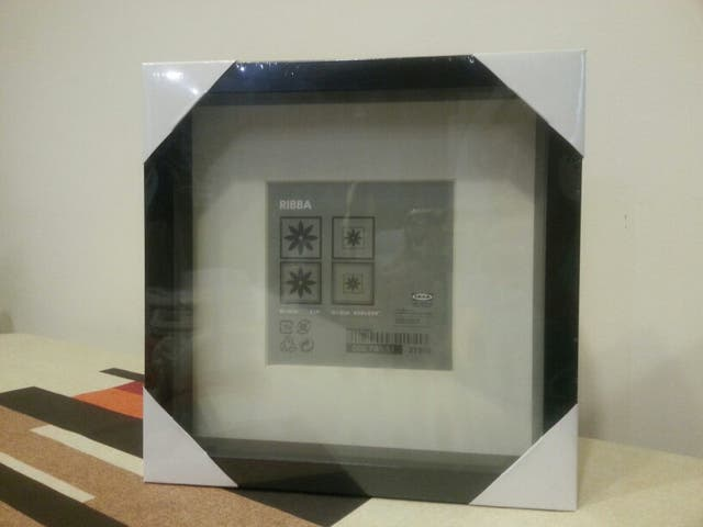 3 marcos para foto negro 23x23 RIBBA de IKEA nuevo de segunda mano ...