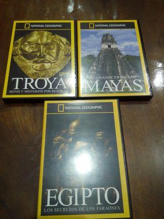 DVDs Troya, Egipto y Mayas