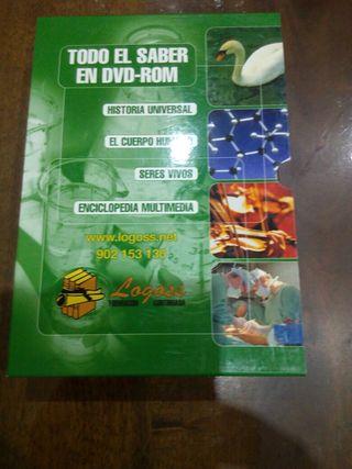 4 DVD- ROM: seres vivos, historia, cuerpo humano.