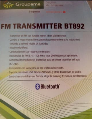 manos libres + mp3 CAR Bluetooth --- NUEVO