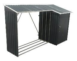 Leñero acero galvanizado (108x272x160cm,4.36 m2)