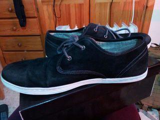 zapatos caballero negros aterciopelados