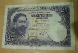 Billete 25 pesetas España