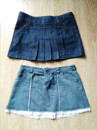 2 Minifaldas vaqueras
