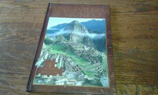 """Libro """" las maravillas del mundo"""" en puzles ."""