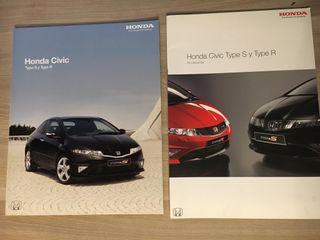 Catalogos Civic TypeR y TypeS