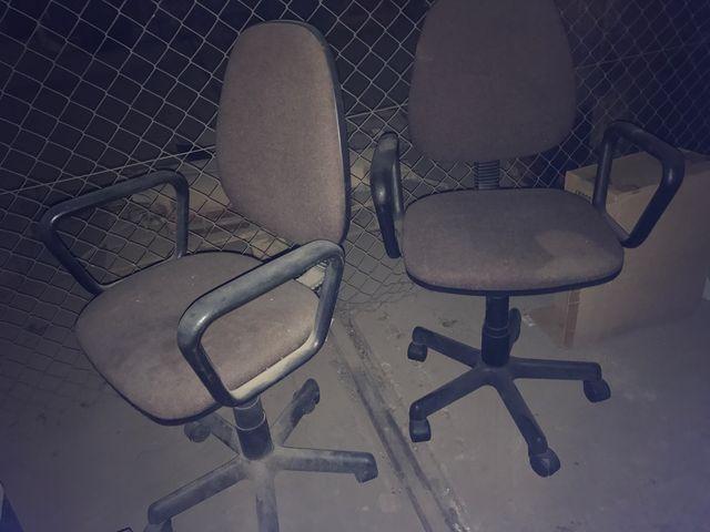 2 sillas giratorias oficina