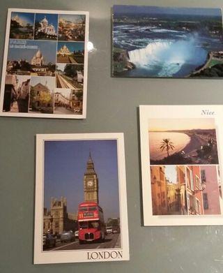 4 postales nuevas de París, Londres, Niza y Canadá