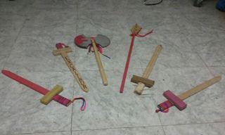 Espadas de madera grande (juguete)