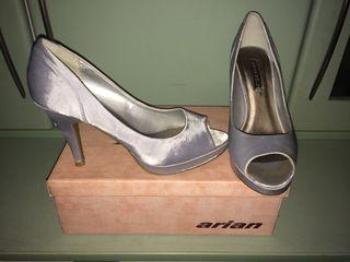Zapatos plata ceremonia núm 39