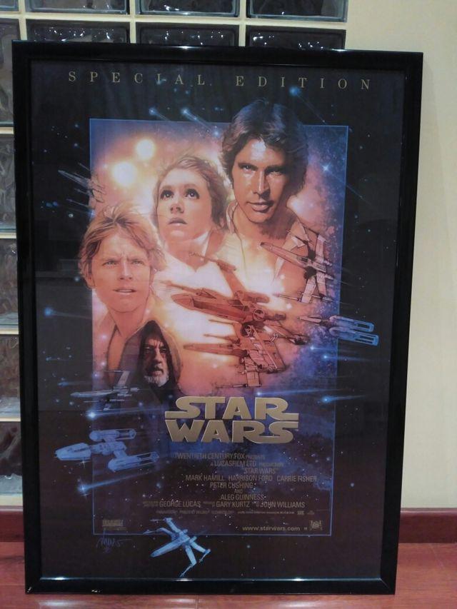 Poster enmarcado Star Wars de segunda mano por 29 € en Ondara - wallapop