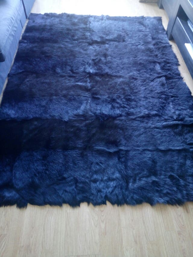 alfombra de pelo de vaca