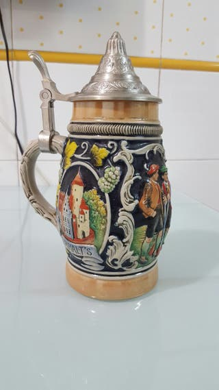 Jarra ceramica artesanal alemana