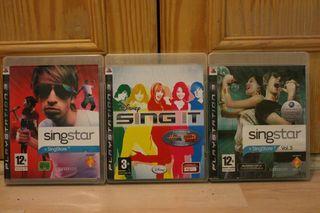 Singstar pack 3 juegos ps3