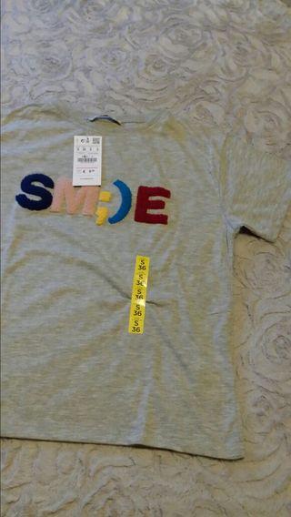 Camiseta Pull con etiqueta talla S