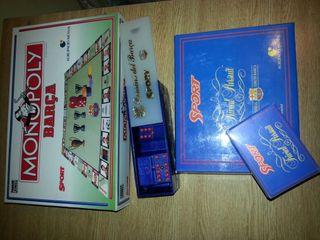 Domino,trivial,monopoly barça
