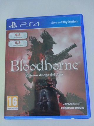 Videojuego ps4 bloodborne edición juego del año