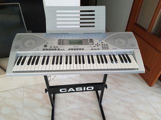 teclado casio ctk-691 con soporte y atril
