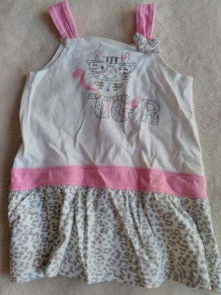 Vestido bebe niña talla 12 meses