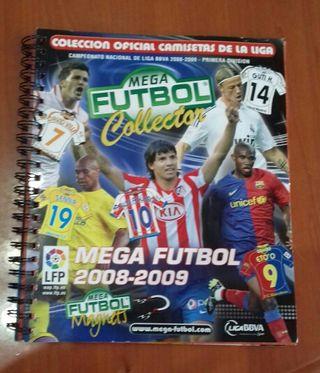 album cromos megafutbol camisetas liga 2008/09