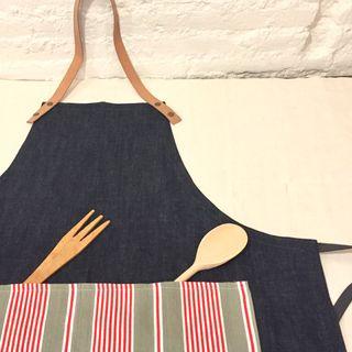 Delantales de cocina ,tela antigua y lino