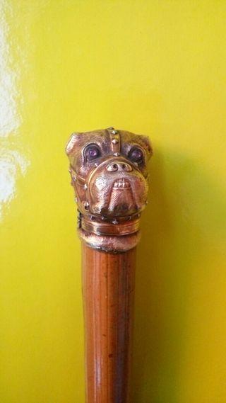 Paraguas original empuñadura cabeza perro