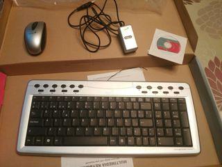 teclado y raton inhalambrico