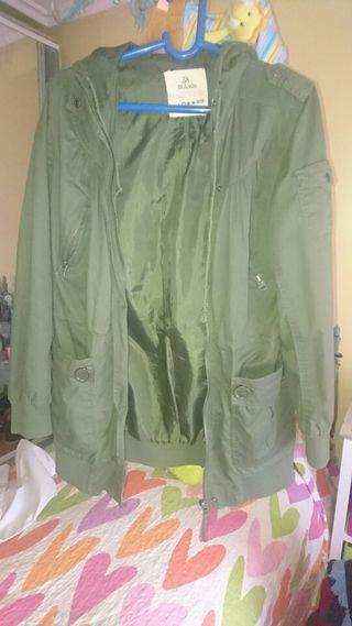 Parka mujer verde militar talla 38