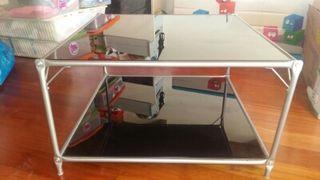 mesa de centro de cristal