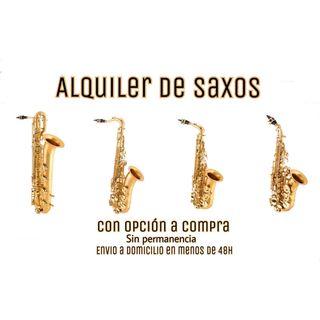 Alquiler de saxos (saxofon saxo alto tenor soprano
