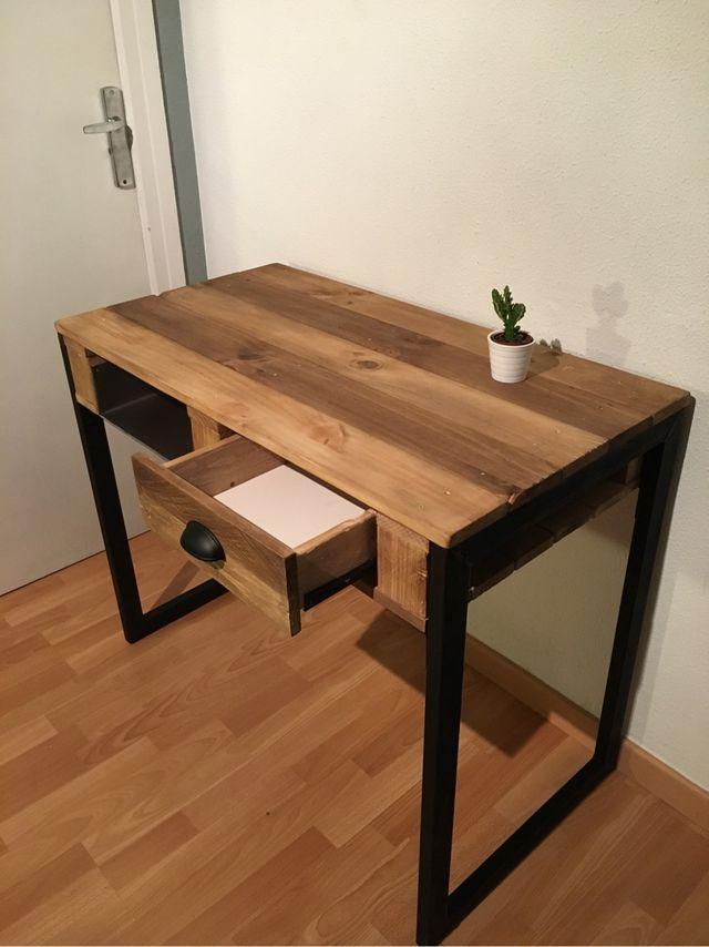 mesa escritorio industrial chu de segunda mano por 250
