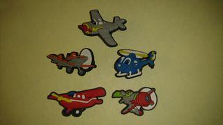 PINS Charms Aviones Planes Zapatos Crocs & Pulsera