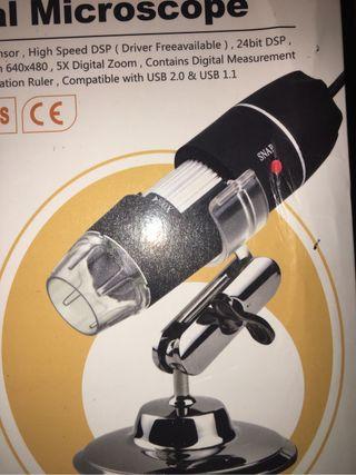 Microscopio usb a estrenar