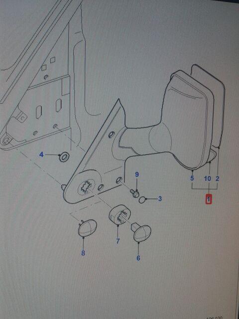 retrovisor derecho manual ford transit 2000