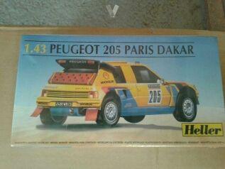 Maqueta Peugeot 205 rallye Paris-Dakar