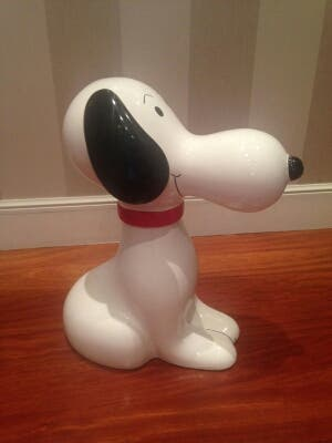 Figura de Snoopy de ceramica antiguo