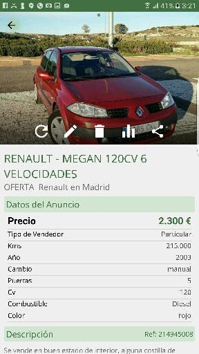 RENAULT MEGAN 120CV 6V DCI