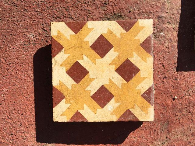 Suelo hidraulico mosaico Catalán
