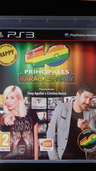 """40 Principales """"Karaoke Party"""" Ps3 Juego"""