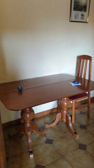 mesa libro de madera medidas 1.30x88