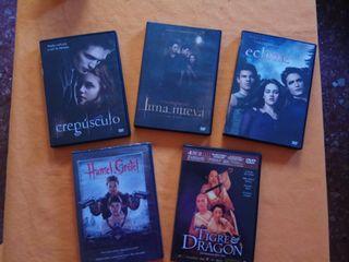 Peliculas Crepúsculo y otras, dvd.