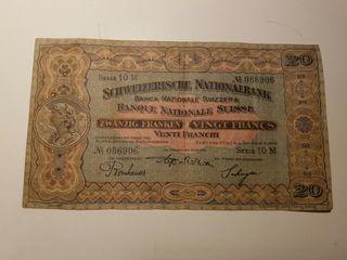 billete de suiza