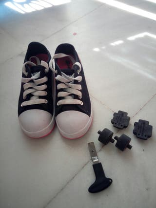 botines de ruedas