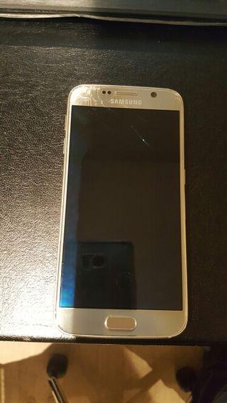 Samung galaxy S6 Dorado 32 Gb con pantalla rota